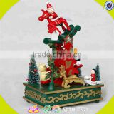 wholesale baby wooden christmas tree music box top fashion kids wooden christmas tree music box W07B013A