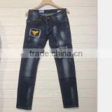 GZY New Arrival men jean Pants slim straight jeans mens jeans wholesale turkey pattern print wolf Fashon Design stock