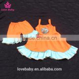 Wholesale High Quality Knit Cotton Hollow-mas Pumpkin Outfits Swing Top set Outfit LBYTZ001-111