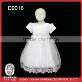 2014 pure white baby girl baptism dress lace
