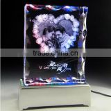 Heart shape picture 2D laser engraving crystal