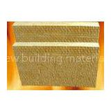 100mm sound proof Insulation Rock Wool board chemical stability For high temperature pipe