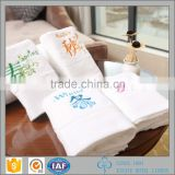 Factory price cotton hutel used customized promotional Embroidery thick hand towel for wholesale