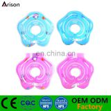 Durable environmental stocked 4 color inflatable baby floating ring inflatable neck ring for promotion