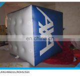 cheap price inflatable cube helium balloon float on the sky