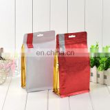 Food packing flat bottom 8 side sealed stand up bag Plastic Red Dates aluminum foil plastic Bag
