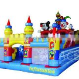 commercial grade Inflatable Obstacle with cartoon character