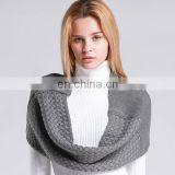 fashion winter versatile plain pattern chunky crochet knitted infinity scarf