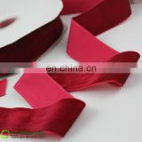 Luxury red velvet ribbon for elegant wine bottle