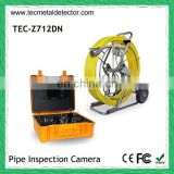 Self-leveling pipe inspection camera with 512Hz transmitter and meter counter TEC-Z712DN
