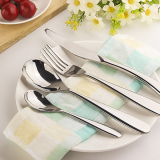 Hot sale western food steak tableware stainless steel knife and fork set of four pieces