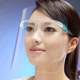 2020 New design HD Anti Fog Fume Safety Full Face Visor Clear Security Faceshield Transparent Protection Glass Face Shield with Glasses Frame