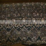 EMBROIDERED ORGANZA FABRIC