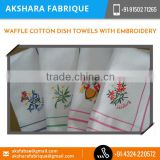 Waffle Cotton Dish Towels for Hotel, Weddng