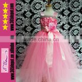 Newest Custom Made Elsa Princess Dress Costume For Party Kids Princess Wedding Dresses For Girls