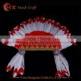 china supplier indian feather carnival headdress