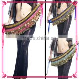 Double drill belly dance waist chain, diamond belly dance belt