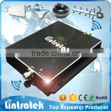 LINTRATEK mobile phone dual band signal booster gsm 900 wcdma 2100 global telecom gsm signal repeater 3g