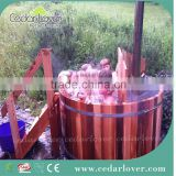 wooden 2 3 person hot tub internal wood fired tub
