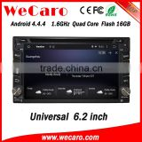"Wecaro 6.2"" WC-2U6400 Android 4.4.4 car dvd player quad core car dvd vcd cd mp3 mp4 player stereo tv tuner"
