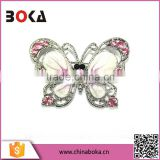 hotselling butterfly shaped alloy brooch, rhinestone butterfly brooch, butterfly enamel brooch