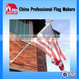 Polyester logo printing banner wall hanging flag banner