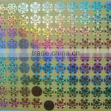 Alibaba trade assurance OEM Printing Transparent hologram stickers