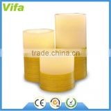 Romantic Flameless paraffin LED wax CandleLight with 18keys Remote Color Changing