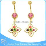 Fashion Gold Plated Body Jewelry MOQ 100 Belly Ring