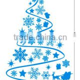 Black vinyl christmas wall decals for window decoration
