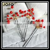 Delicate Latest Lady Wedding Flower Pearls Hairpins White Bridal Fashion Hair Jewelry Accessories