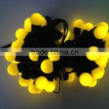 US EU 110V 220V yellow Warm white purple RGB led global string light fairy IP65 standard outdoor led ball string light