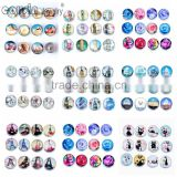 18mm Glass snap button Cutomized for interchangeable charm jewelry fit snap button Jewelry Cousin jewelry
