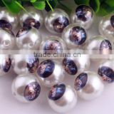 Hot Sale Fashion Chunky Acrylic 20mm Pearl Print Cartoon Character Bubblegum Ball Beads For Kids Necklaces Making!!