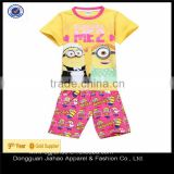 Fashion cartoon monkey printed casual baby clothing sets(2 pcs)