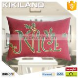 Eco-friendly linen square sublimation cushion cover wholesale festival style pillow case
