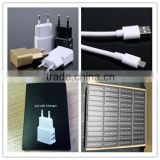 OEM black white gold logo printing us eu 1.5a dual usb charger for portable dvd player with micro cable and paper box
