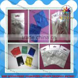 flexible printing and lamination packaging Aluminium Foil Bag pouch with butterfly /hanger hole