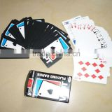 WPT black white poker/100% plastic poker / custom professional anime poker playing cards