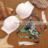 Wholesale Fashion Womens Sexy Padded Bra Swimsuit Black Cheap Push Up Bikini