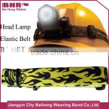 Printed non-slip polyester rubber woven elastic belt head lamp belt
