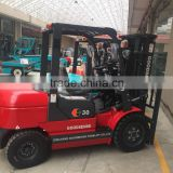 rough terrain truck red new general industrial equipment 3 ton diesel engine forklift truck for sale