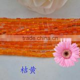 orange hollow glass beads jewelry findings,seed glass beads wholesale,square crystal beads for selling