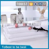 ToBest China hotel supplies suppliers wholesale thicken solid jacquard 100% cotton hotel face towel