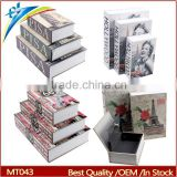 2015 Hot sale many kinds of Design Secret Book Safe box magic secret box with key or password