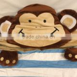 children kids baby cartoon portable sleeping bag/ Kids Monkey Head Sleeping Bag