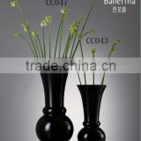 Tall Black Flower Vase Glass Crafts