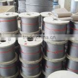 Electrical Steel Cable Wire Stainless steel wire rope SS steel cable 1x19,6x36,7x19,1x37,7x37