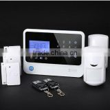 Easy operation home alarm system,DIY gsm alarm/wireless alarm system with different detectors for choice,door sensor,pir sensor