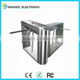 304 stainless steel iron gate designs for supermarket 2mm thick shell RS485 communication tripod barrier